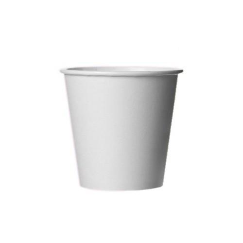 Экологичный бумажный стакан 110 мл белый