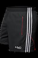 Шорты мужские F50 - 1095A черный-серо-красный