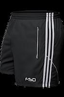 Шорты мужские F50 - 1095F черный-серо-белый