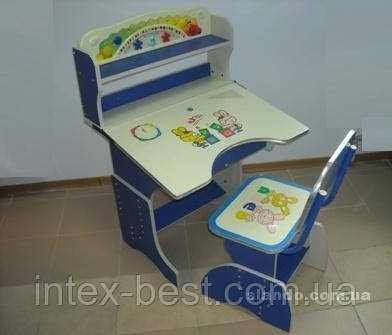 Детская парта со стульчиком трансформер Bambi HB 2877 (стол-парта растишка) синяя, розовая.