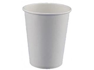 Белый бумажный одноразовый стакан 175 мл