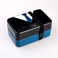 Ланчбокс с галстуком для еды (lunch box) - бутербродница с отделениями
