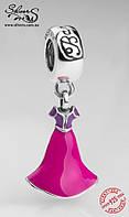 """Серебряная подвеска-шарм Пандора (Pandora) """"Disney. Платье Рапунцель"""" для браслета"""