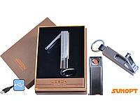 Зажигалка-брелок кусачки Jobon (USB, Спираль накаливания) №4826-1