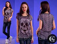 3d футболка Череп стразы
