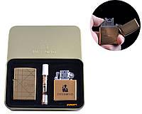 """Электроимпульсная (USB) + бензиновая зажигалки в подарочной коробке + мундштук """"Dior"""" №4774-4"""