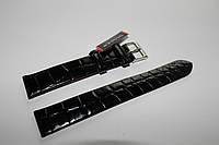 Кожаный  ремень Stailer- черный крокодил без прошивки и нубуковой подкладкой