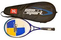 Ракетка для большого тенниса, литой корпус (в чехле).