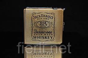 Портсигар выкидной с зажигалкой Виски большой НА 16 СИГАРЕТ