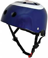 Шлем детский Kiddi Moto синяя мишень, размер M 53-58см
