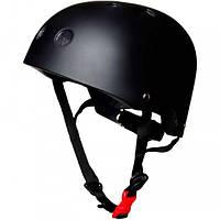 Шлем детский Kiddi Moto чёрный матовый, размер M 53-58см