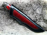 Эксклюзивные ножны со вставкой из кожи питона, игуаны, ската и т.д. (изготовим под Ваш нож)