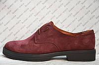 Туфли оксфорды женские без каблука натуральная замша