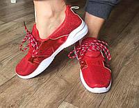 Женские кроссовки красные Y-8