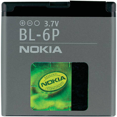 Оригинальный аккумулятор Nokia BL-6P, Li-ion 830mAh, фото 2