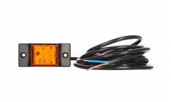Габаритно - контурный фонарь HOR 40, оранжевый с диодом LED и кабелем 3 м, 12/24 V