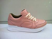 Кроссовки женские кожаные бирюза белые розовые код 851