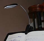 Портативный светильник-лампа с клипсой 28 LED черный, фото 10