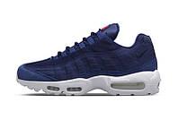 "Кроссовки мужские Stussy x Nike Air Max 95 ""Loyal Blue/White"", фото 1"