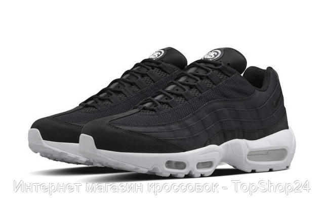 "Кроссовки мужские Stussy x Nike Air Max 95 ""Black/White"