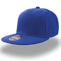 Синяя кепка с прямым козырьком (Snapback)