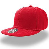 Красная кепка с прямым козырьком (Snapback)