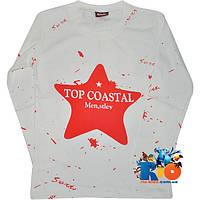 """Детский батник с принтом """"Top Coastal"""" , трикотажный , для мальчиков (4-8 лет) (4 ед. в уп.)"""