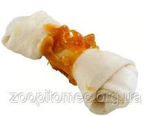 Жувальна кістка для собак з волової шкіри, з куркою GOODBITE FUN 4904