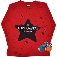 """Детский батник с принтом """"Top Coastal"""" , трикотажный , для мальчика (4-8 лет) (4 ед. в уп.)"""