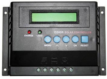 Контролер заряду для сонячних панелей С2430 (12/24В 30А)