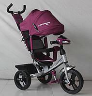Трехколесный велосипед Crosser One T1 фара (EVA колеса),фиолетовый***