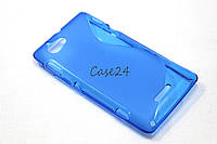 Чехол накладка бампер для Sony Xperia L C2105 синий, фото 1