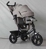Трехколесный велосипед Crosser One T1 фара (EVA колеса),серый***
