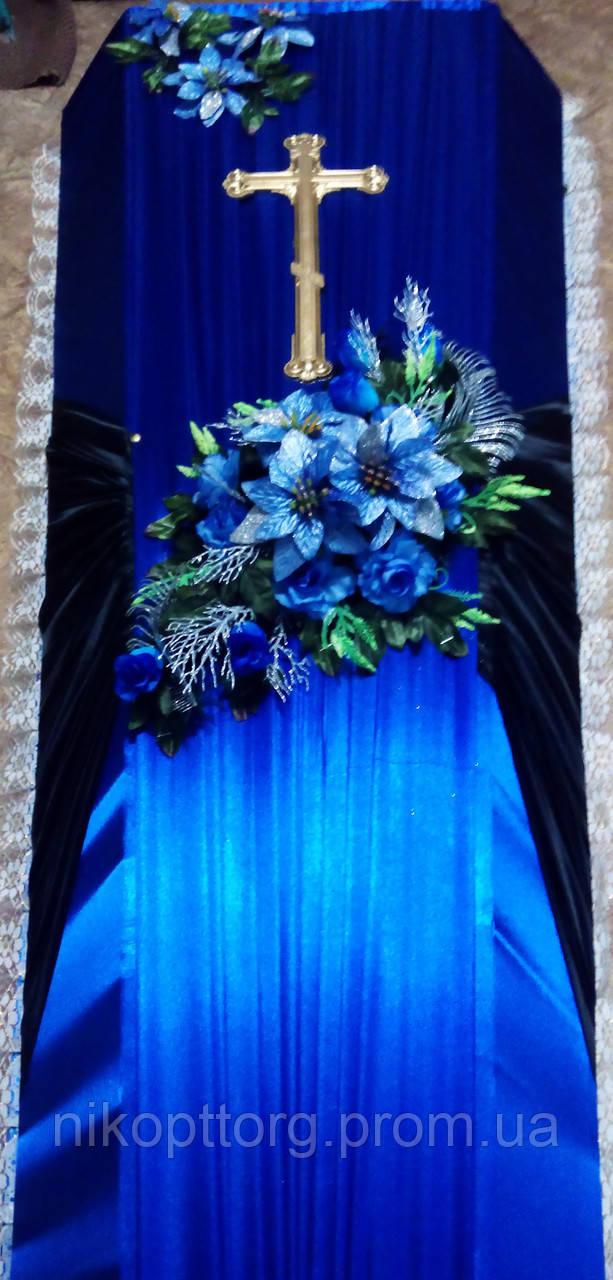 """Гроб """"Улучшенный"""" с цветами, фото 1"""