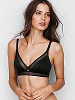 Бюстгальтер Victoria's Secret Triangle Bralette, Black With Mesh DL3, фото 1