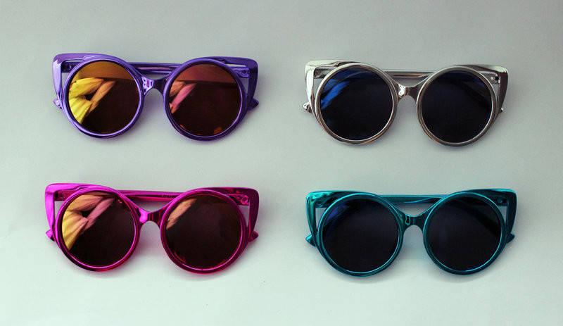 Круглые детские разноцветные солнцезащитные очки в перламутре, фото 2