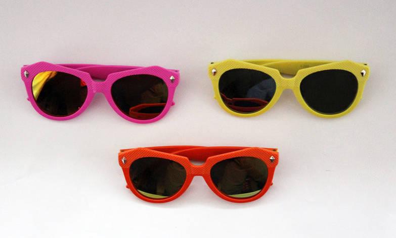 Эффектные детские разноцветные солнцезащитные очки-авиаторы , фото 2