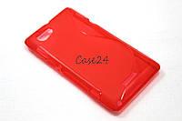 Чехол накладка бампер для Sony Xperia L C2105 красный, фото 1