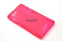Чехол накладка бампер для Sony Xperia L C2105 розовый, фото 1