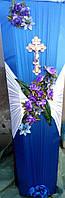 Гроб улучшенный с цветами