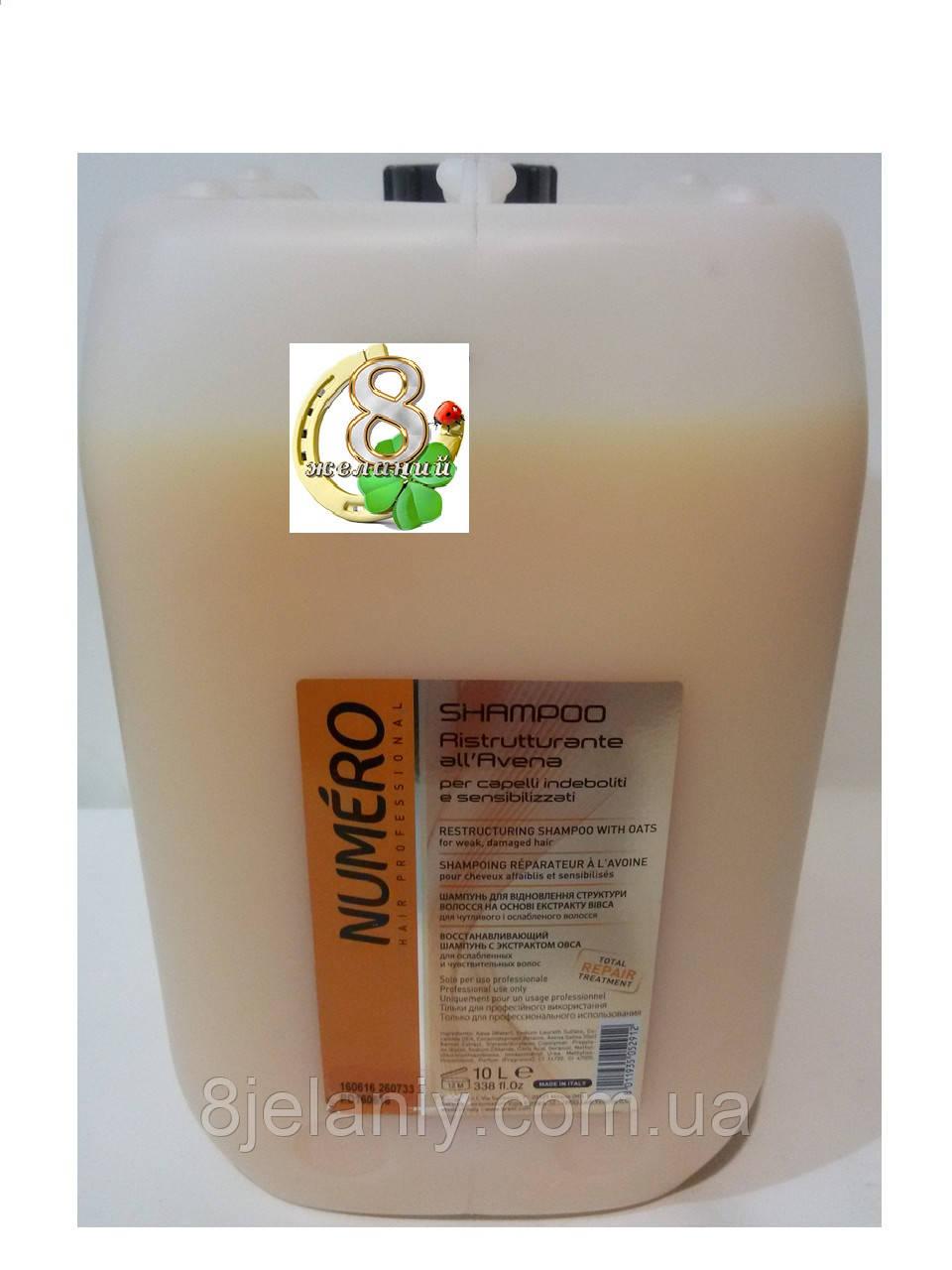 Шампунь восстанавливающий Brelil Numero Oat Shampoo с вытяжкой из овса 10 л