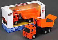 """Машина металлопластик 6511 А """"Камаз"""" (96/4) инерция, кузов откидывается, в коробке"""