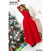 Элегантное платье с гипирюм и брошью (разные цвета)