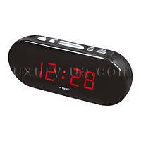 Часы сетевые VST 715-1 красные