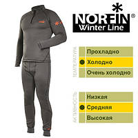 Термобілизна фліс. Norfin WINTER LINE GRAY (сіра1-й,2-й шар) S / * 20