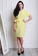 Однотонное платье лимонного цвента