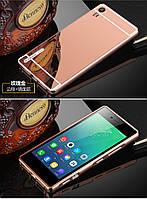 Металлический зеркальный чехол бампер для Lenovo Vibe Shot Z90 (4 цвета в наличии)