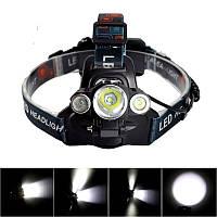 Налобный велосипедный фонарь Police BL-1825 T6, фото 1