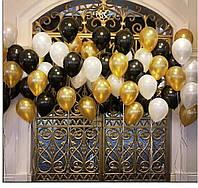 7 Фонтанов из 7-ми гелевых воздушных шаров