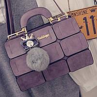 Сиреневая сумка MEI&GE, экокожа, женская сумочка, фото 1
